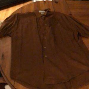 Brown Express button down shirt